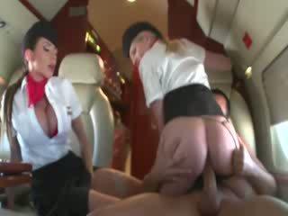 Stewardesses jojimas a customers varpa