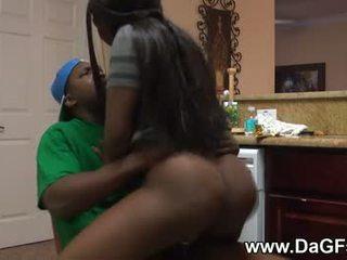 Black Ghetto Girl Fucked Hard by a Big