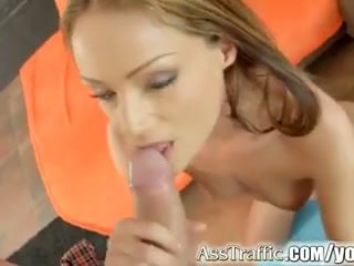 Sophie lynx gets anāls fucked un swallows sperma