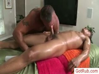 Homosexual Hunk Gets His Wang Oiled For Massage By Gotrub