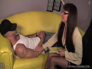 性感 美洲狮 shrink alexandra seduces 她的 病人!