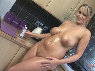 Lexy Big Tits Oil & Cling Film Fun