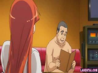 Hentai mažutė slammed iki vyresnis vyras