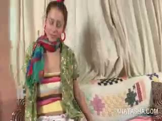 Natasha Shy Caught Masturbating Gets Joined By Ivana