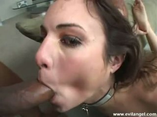 Constricted Chick Amber Rain Receives Throated By Gigantic Black Pipes