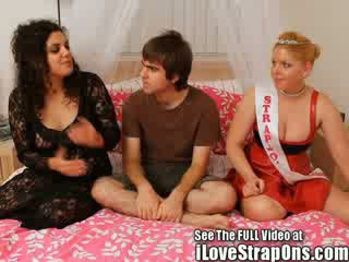 Mistress sarah and the strapon princess give Griffin what he really deserve