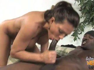 hoorndrager video-, interraciale, milf