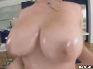 Teen with Huge Tits Banged on a Glass Table
