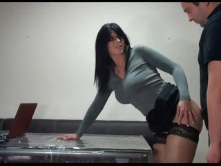 neuken, kantoor, groot secretaresse mov