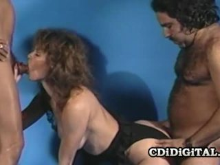 Aja retro jana fucked by two throbbing dicks