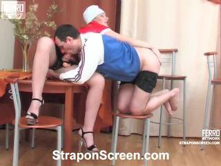 Melanie And Monty Perverted Strapon Mov