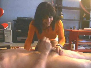 brunette see, cum in mouth new, online blowjob