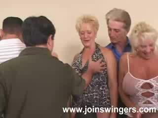 swingers, mooi grootmoeder actie, oud