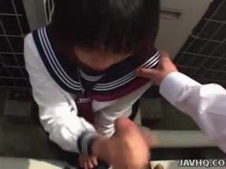 Japanese Schoolgirl Sucks Cock Uncensored