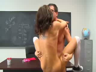 School chick girl fuck and jizz shot