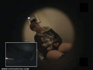 Jepang kantor wanita toilet masturbate