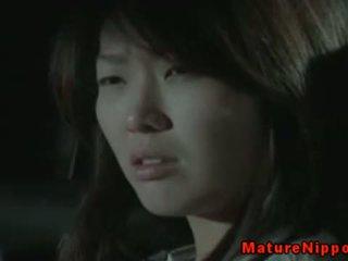 brunette, japanese, mature