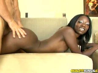 Ebony Taylor Starr get a big white dick behind