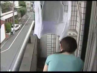 일본의, 주부, milf