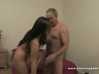 Lucky Mature Guy Fucks The Girl Of His Dreams Till He Cums All Over Her Tiny Pussy.
