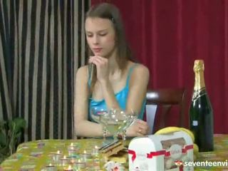 Cute Young Lesbo Birthday Party