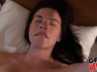 brunette video-, coed porno, kijken college meisje film