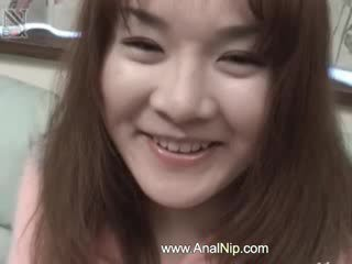 vibrators in her tiny asian anal hole