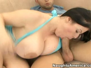 Busty Milf Daphne Rosen Feeds Her Juicy Mouth With A Meaty Hot Dick