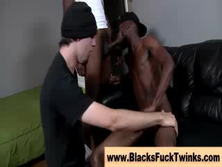 Amateur interracial gays fuck hard
