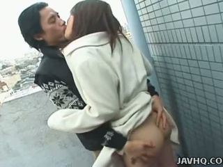 JAVHQ: Japanese teen exhibs and fucked outdoor