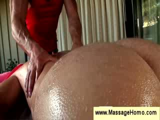 Homosexual man gets an erotic massage