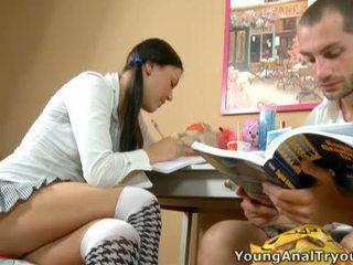 Seksikas rosalina helps tema learner beside boner.