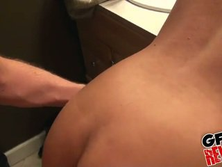 Homemade action in the bathroom