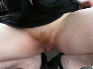Bushy Czech slut Florence asshole ripped