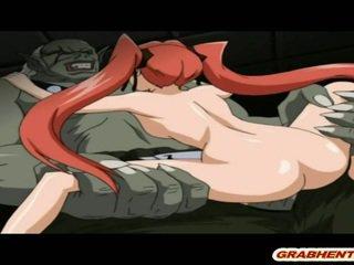 Cute Hentai Coed Hard Fucked Black Monster