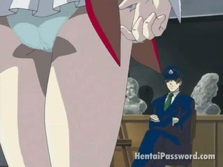 Skinny Brunette Anime Hotty Stripping Panties And Masturbating Wet Pussy On The Floor