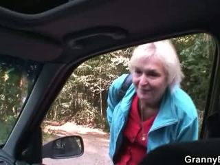 Granny Bet: Blonde Granny fucked by young driver