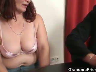 controleren oud film, 3some thumbnail, heet grootmoeder