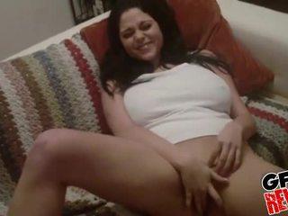 Mega Busty Amateur Brunette Gets Nailed On The Bed