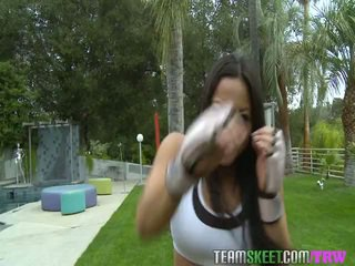 TheRealWorkout Chinese Sports Hall Nymph Adrianna Luna Facialized