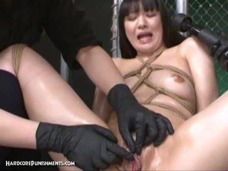 ญี่ปุ่น ผู้หญิงสวย tortured โดย vibrators