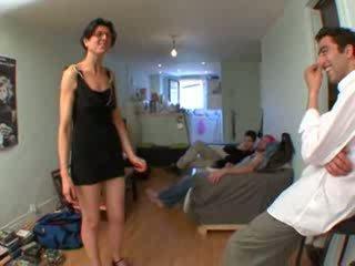 Gangbang for Petra, husband watching