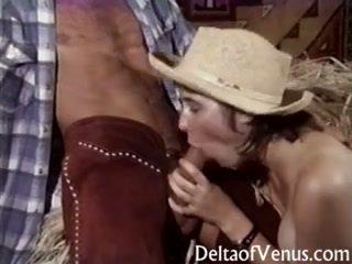 Vintage porno - peluda adolescente vaquera gets follada