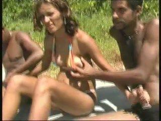 brazilijos, juoda ir ebony, gangbang, visuomenės nuogumas