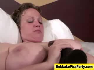 Naughty bukkake loving hoe gets fisted