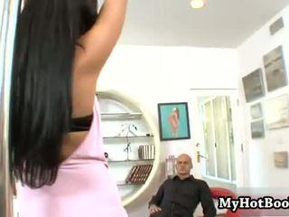 Brittney Blew is a lovely brunette pole dancer whos fucked
