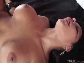 tits vid, brunette, fun melons