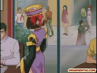 Manga prisoner tüdruk sisse chains gets perses poolt a knight alla sisse the ori chamber