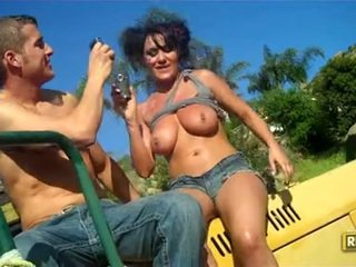 Sizzling TAnned Charley Chase Hooks Her Smutty Mouth On A Massive Erect Pecker