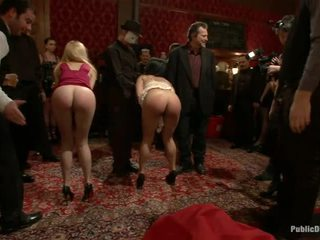 echt openbare sex film, publiek, mooi bondage sex klem